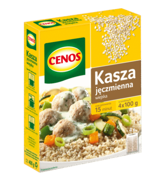 CENOS Peasant Barley Groats (4 x 100g) - 400g (exp. 01.01.20)