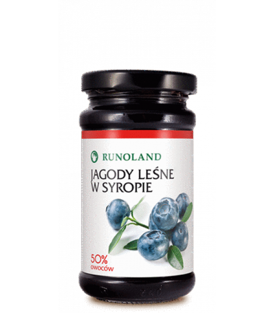 RUNOLAND Wild Blueberries in Syrup - 230g (exp. 10.04.21)
