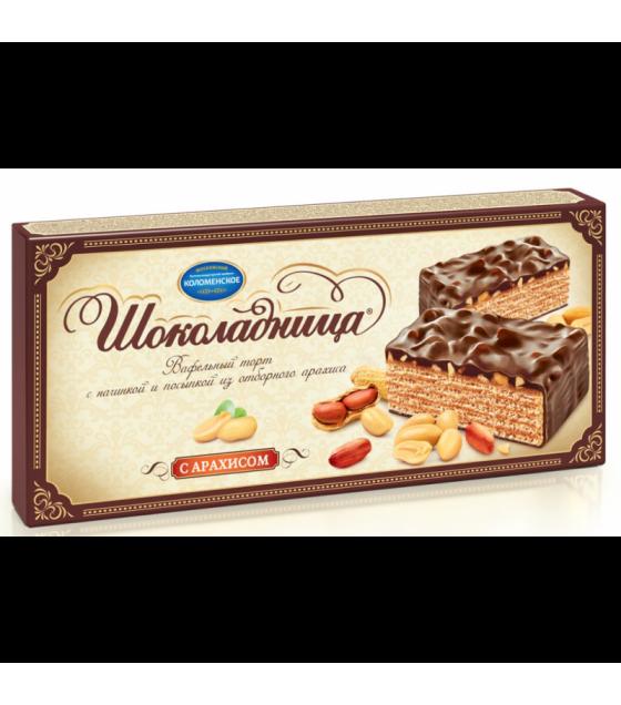 CHOKOLADNITSA Waffle Cake with peanuts - 270g (best before 11.11.21)