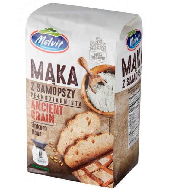 MELVIT Einkorn Wholewheat Flour (Ancient Grain) - 1kg (best before 17.09.21)