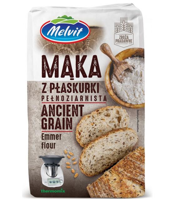 MELVIT Emmer Wholewheat Flour (Ancient Grain) - 1kg (best before 17.09.21)