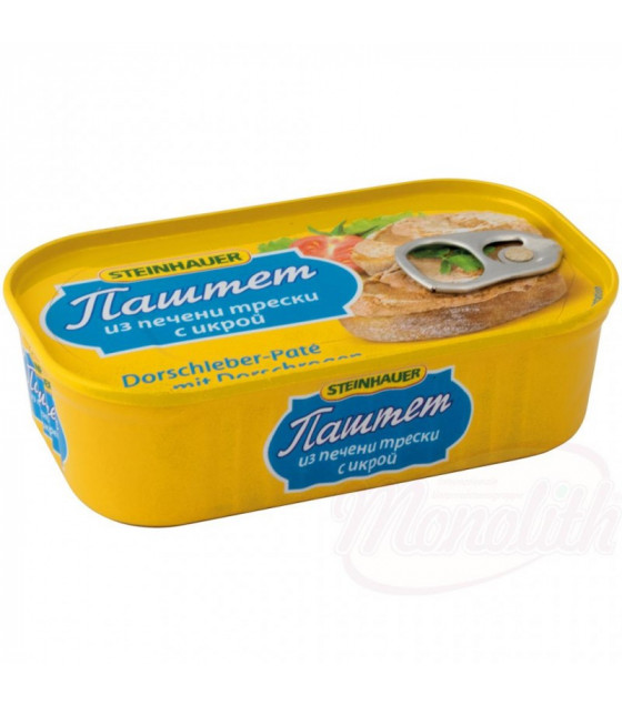 STEINHAUER Cod Liver Pate with Caviar - 115g (best before 31.12.25)