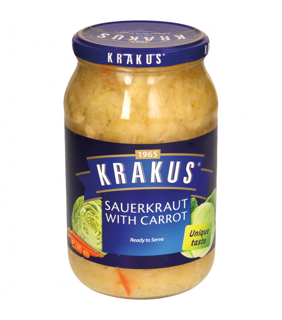 KRAKUS Sauerkraut with Carrot - 900g (best before 01.12.22)