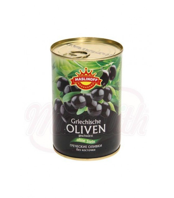 MASLINOFF Pickled Greek Olives without Stone - 420g (best before 21.11.22)