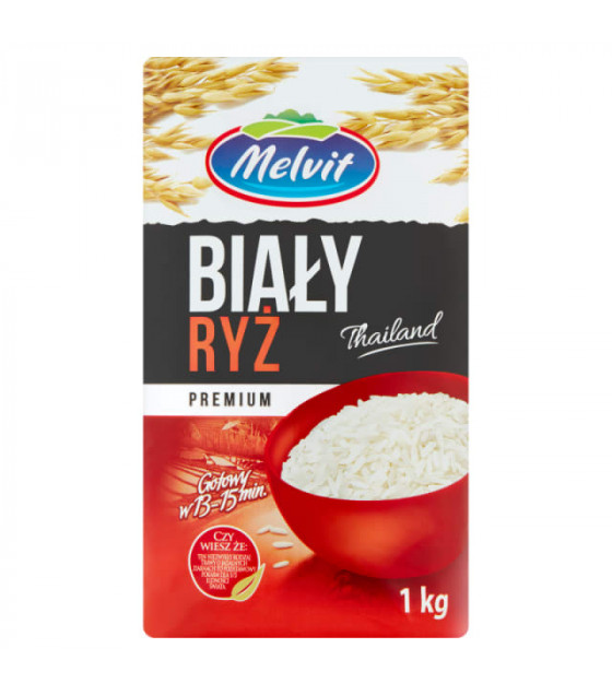 MELVIT Long Grain White Rice - 1kg (best before 31.03.22)