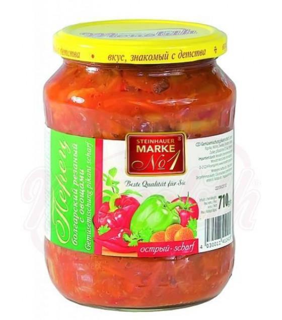 STEINHAUER MARKE N1 Sliced Bulgarian Pepper with Vegetables - 710g (best before 09.10.23)