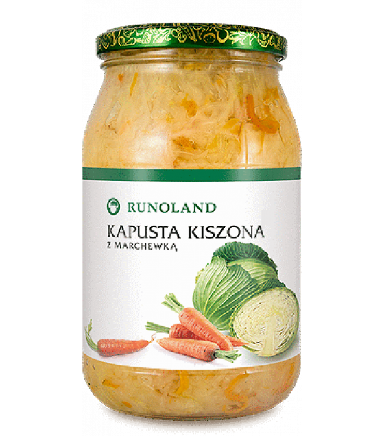 RUNOLAND Sauerkraut with Carrot - 900g/540g (exp. 10.08.21)