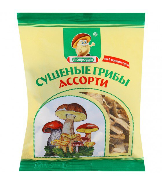 Mix of Dried Mushrooms Ecoproduct  - 50g (exp. 28.07.19)