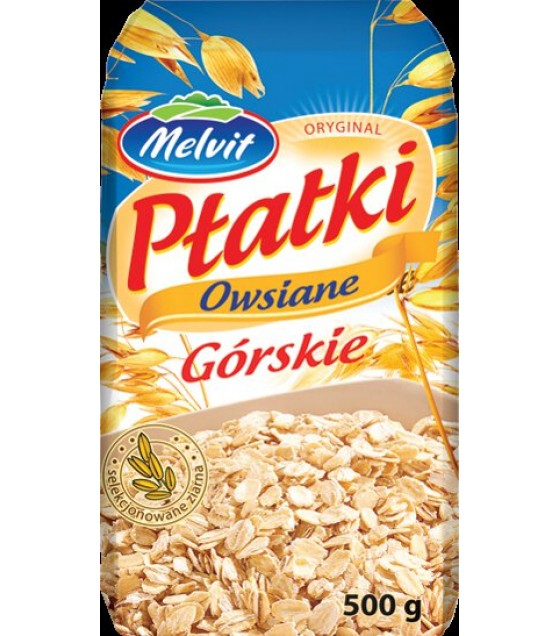 "MELVIT ""Gorskie"" Rolled Oat Flakes - 500g (exp. 11.03.21)"