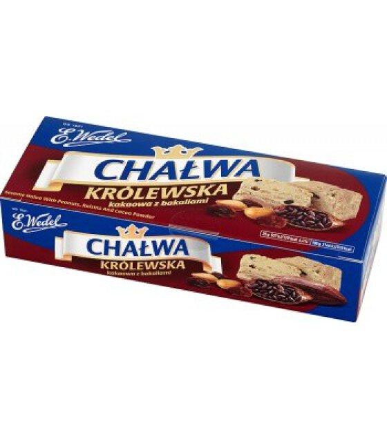"Halva KROLEWSKA ""Wedel"" with cocoa, nuts and raisins - 250g (exp. 15.12.19)"