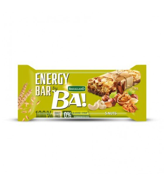 "Energy Cereal Bar ""Bakalland BA!"" Mix Of 5 Nuts - 40g (exp. 30.09.19)"