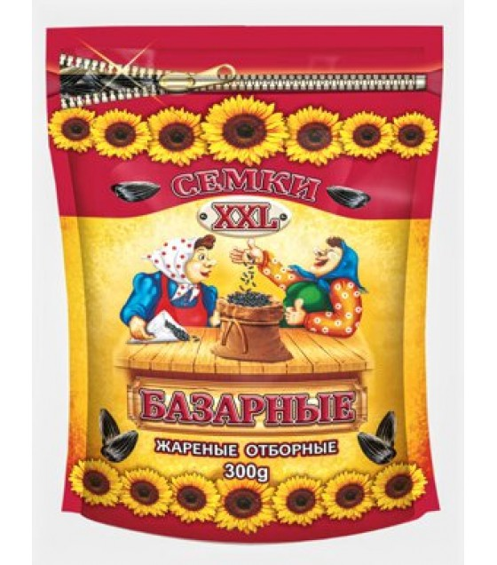 "GRANEX Sunflower Seeds ""Bazarnye XXL"" Roasted - 300g (exp. 30.04.20)"