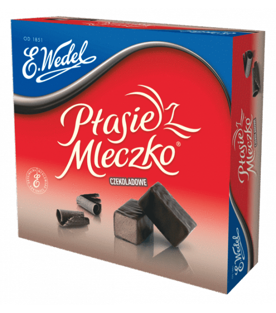 "E.Wedel ""Ptasie Mleczko"" Chocolate Covered Marshmallow With Chocolate Taste - 380gr (exp. 07.03.20)"