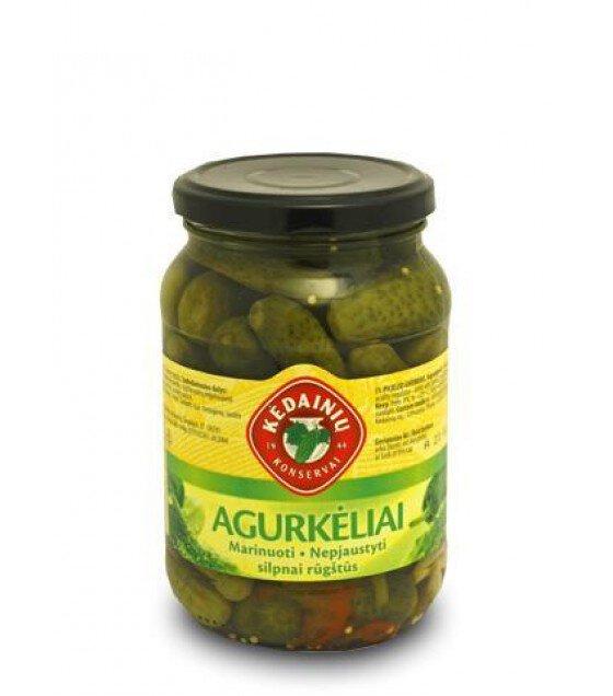 "KEDAINIU Pickled Cucumbers Gherkins ""Agurkeliai"" - 480g (best before 31.03.23)"