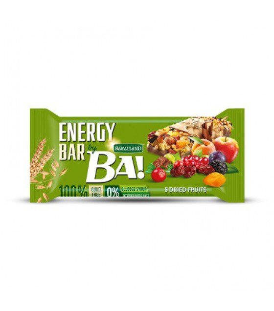 "Energy Cereal Bar ""Bakalland BA!"" Dried Fruits - 40g (exp. 30.09.19)"