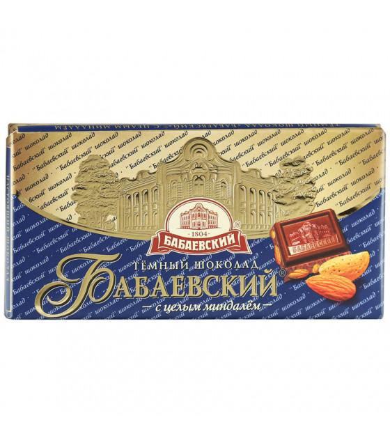 "Dark Chocolate ""Babayevskiy"" with Almonds - 100g (best before 24.08.21)"