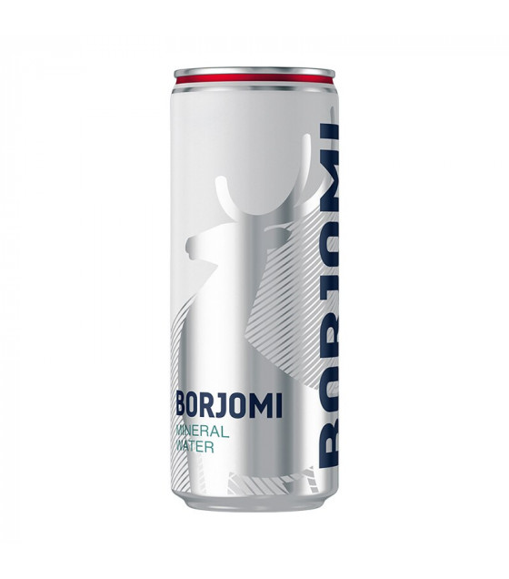 BORJOMI Natural Carbonated Mineral Water (Metal Can) - 0.33L (best before 30.12.22)