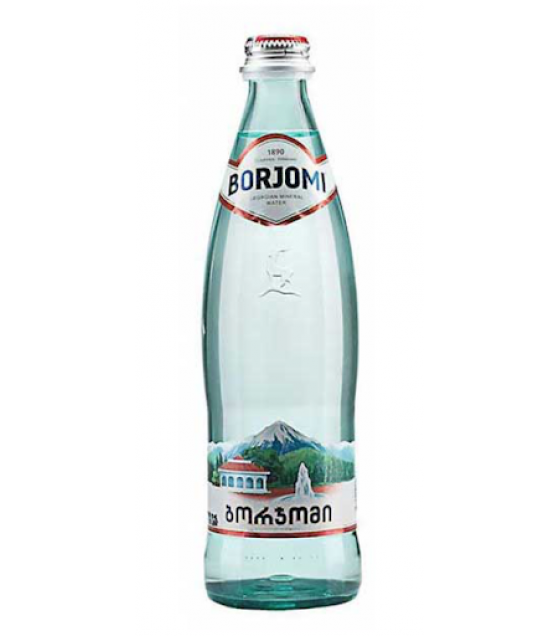 BORJOMI Natural Carbonated Mineral Water - 0.5L (best before 28.10.22)