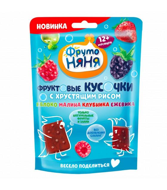 "FRUTO-NANYA Snack ""Fruit Bites"" Apple-Raspberry-Blackberry with Crispy Rice (from 12 months) - 42g (best before 06.04.22)"