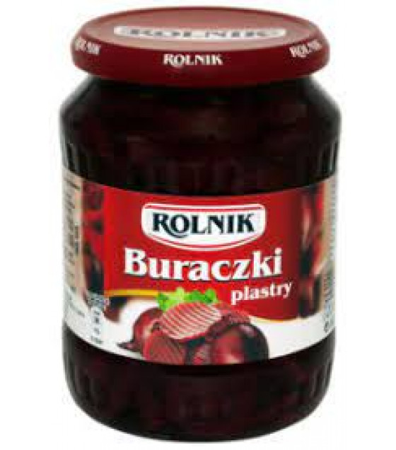 ROLNIK Marinated Beetroot Sliced - 720g (best before 22.03.22)