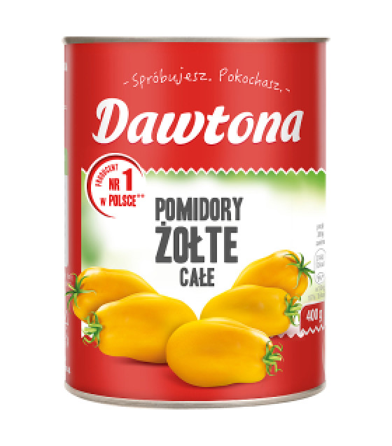 DAWTONA Yellow Peeled Tomatoes Cale - 400g (best before 01.09.22)