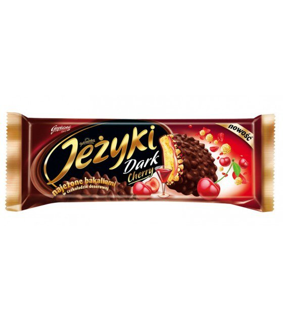 JEZYKI Classic Biscuits With Cherry Fillings - 140g (best before 01.02.21)