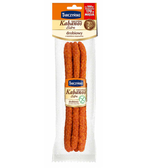 TARCZYNSKI Kabanos EXTRA Poultry With Pork smoked sausages - 175g (exp. 22.04.20)