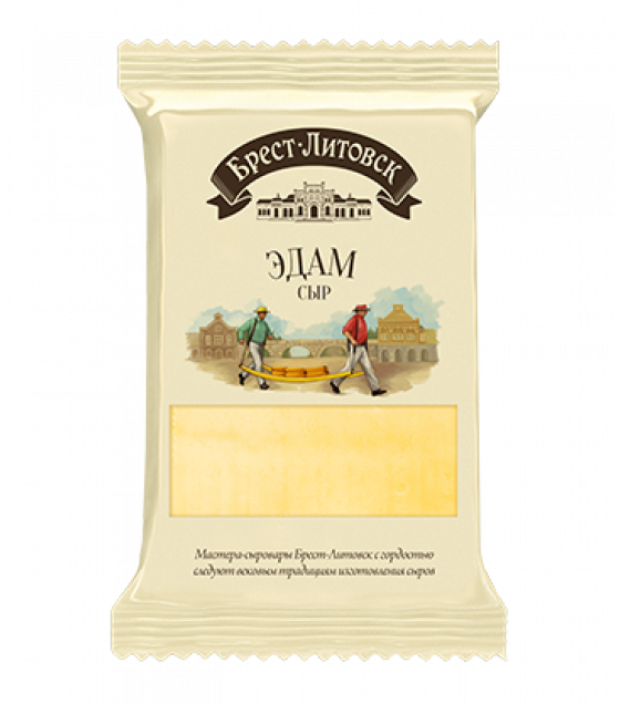 "SAVUSHKIN Cheese semi-hard ""Brest-Litovsk Edam"" 45% fat (pieces) - 200g (best before 29.06.21)"