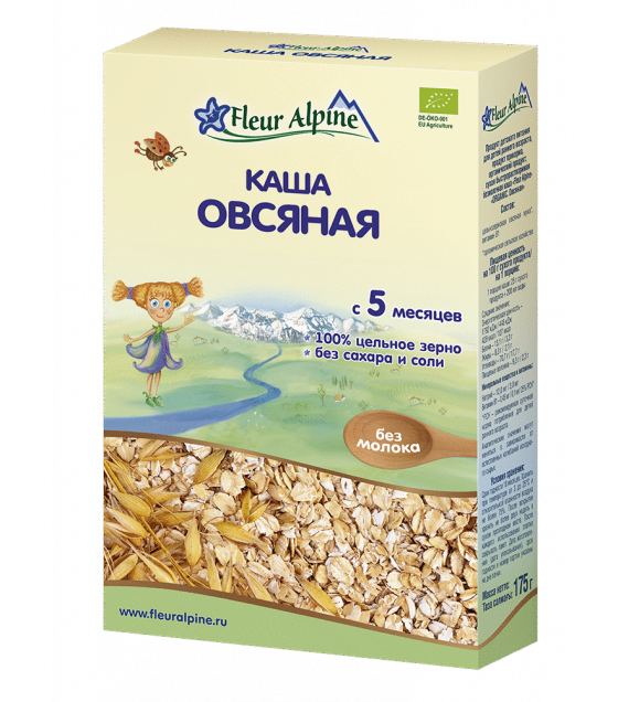 "Fleur Alpine - Organic Cereal ""Oats"" from 5 months -175g (best before 03.12.21)"