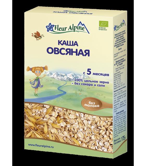 "Fleur Alpine - Organic Cereal ""Oats"", 5 months -175g (exp. 09.02.2020)"