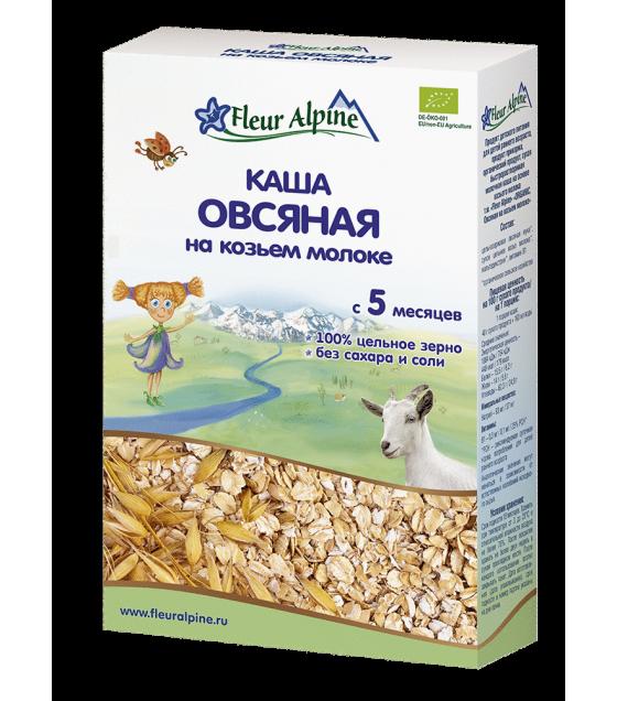 "Fleur Alpine - Organic Goat Milk Cereal ""Oats"", 5 months -200g (exp. 11.01.2020)"