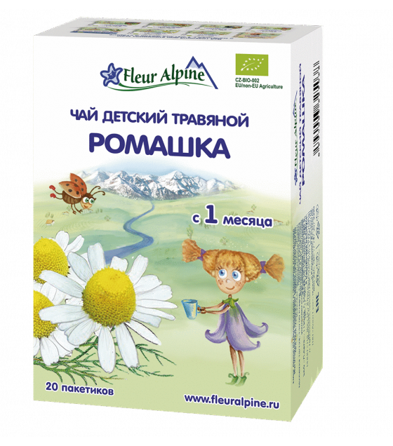 "Fleur Alpine - Baby Herbal Tea ""Camomile"", from 1 month -20g (exp. 09.01.21)"