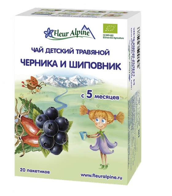 "Fleur Alpine - Baby Herbal Tea ""Bilberry and Rosehip"", from 5 months - 30g (exp. 13.08.2020)"