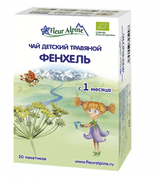 "Fleur Alpine -  Baby Herbal Tea ""Fennel"", from 1 month - 30g (exp. 06.03.2020)"