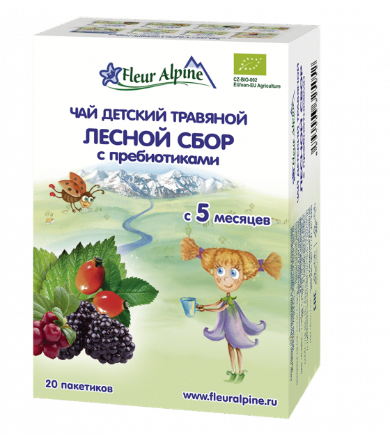 "Fleur Alpine - Baby Herbal Tea ""Forest collection with prebiotics"", from 5 months - 30g (exp. 24.01.21)"