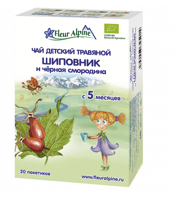 "Fleur Alpine - Baby Herbal Tea ""Rosehip and Black Currant"", 5 months - 30g (exp. 04.12.2020)"