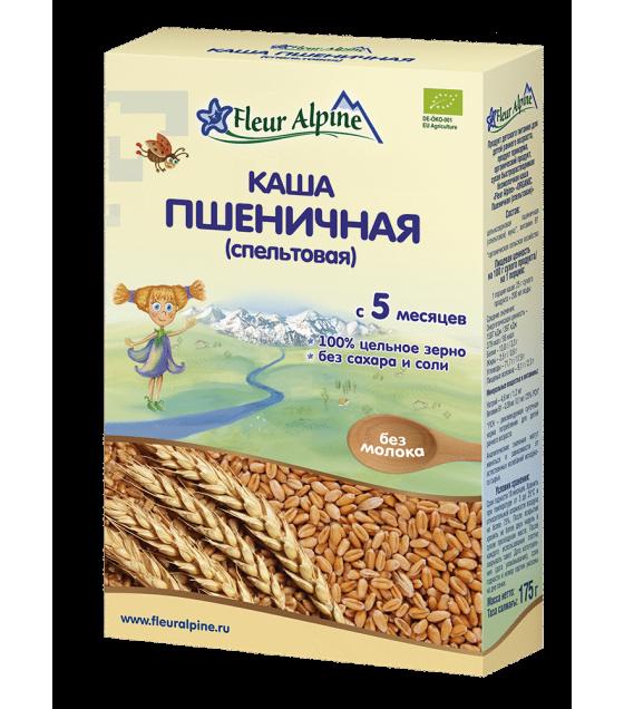 "Fleur Alpine - Organic Cereal ""Wheat (Spelt)"", 5 months -175g (exp. 13.01.2020)"