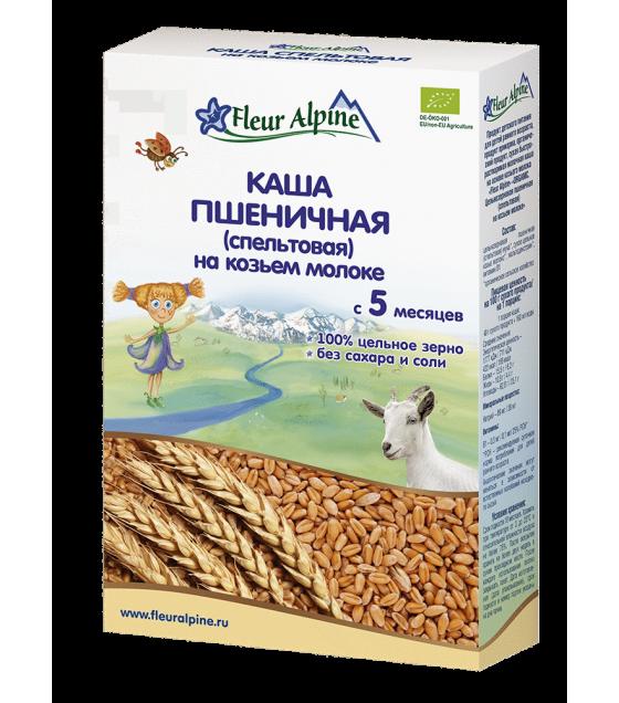 "Fleur Alpine - Organic Goat Milk Cereal ""Wheat(spelt)"", 5 months -200g (exp. 12.01.2020)"