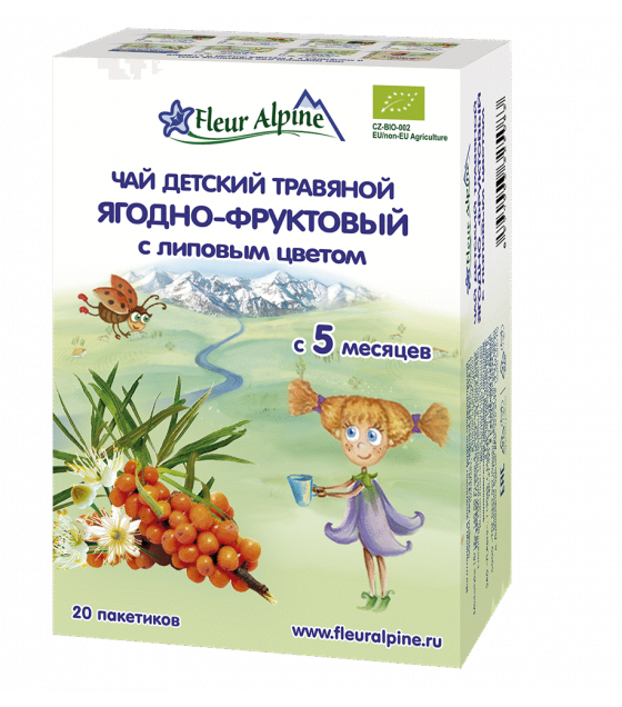"Fleur Alpine - Baby Herbal Tea ""Berry and Fruits with Linden Flowers"", from 5 moths - 30g (exp. 06.08.2020)"