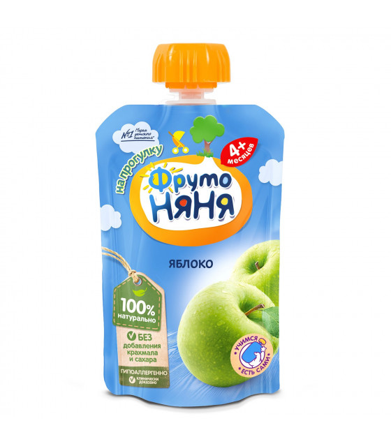 FRUTO-NANYA Puree Apple (from 4 months) - 90g (best before 25.04.22)