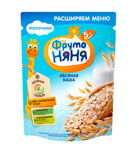 FRUTO-NANYA Milk Oat Porridge (from 5 months) - 200g (best before 27.03.22)
