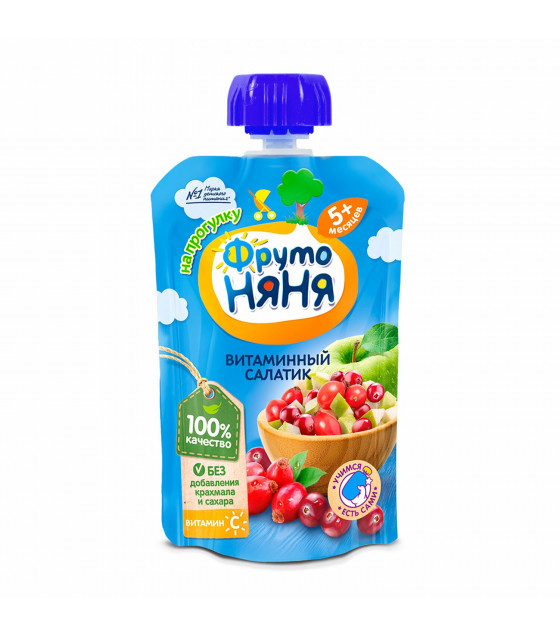 FRUTO-NANYA Puree Vitamin Fruit Salad (from 5 months) - 90g (best before 23.04.22)