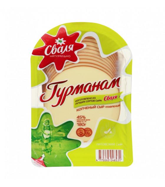 """SVALIA Smoked Processed Cheese """"Gurmanam"""" 45% - 180g (best before 17.08.21)"""