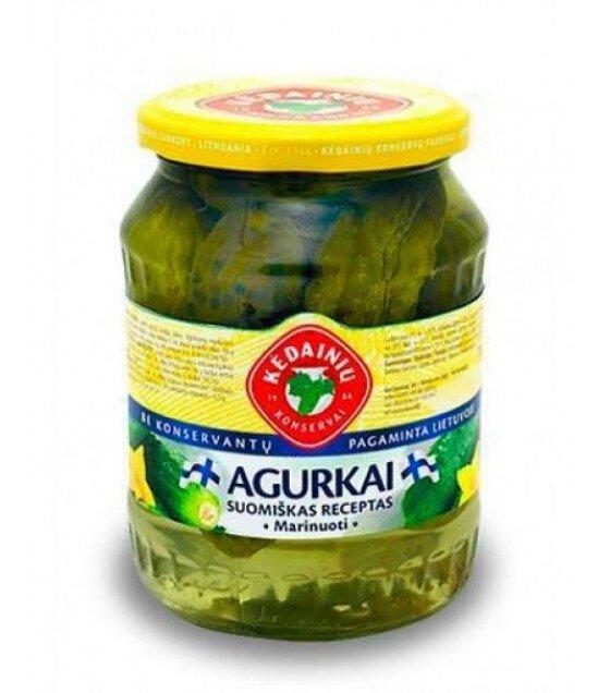 """KEDAINIU Pickled cucumbers  """"Finnish Recipe"""" - 660g/330g (exp. 21.08.20)"""