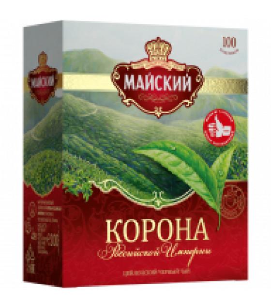 "MAYSKIY Black Ceylon Tea ""Korona Rossiyskoy Imperii"" (100x2g bags) - 200g (best before 15.07.23)"