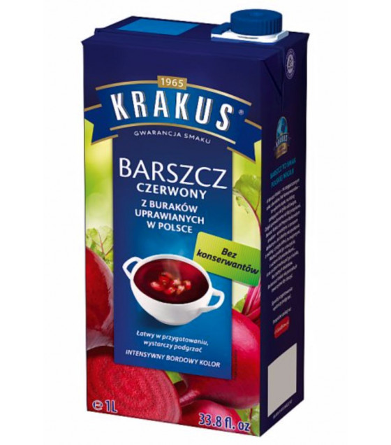 KRAKUS Red Borscht Soup (from Polish beetroot) - 1L (best before 30.01.22)