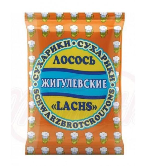 """STEINHAUER """"Jigulevskie"""" Croutons with Salmon Taste - 50g (best before 30.04.21)"""