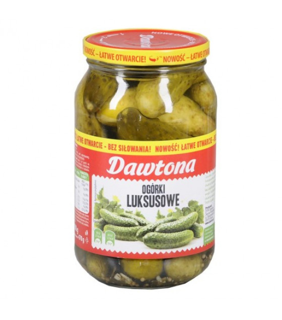 "DAWTONA Premium pickled cucumbers ""Luksusowe"" - 900g (best before 01.08.23)"