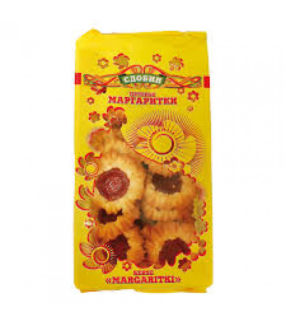 "SDOBIN Biscuits ""Margaritki"" With Fruit Layer Cherry Flavor - 300г (до 25.10.21)"