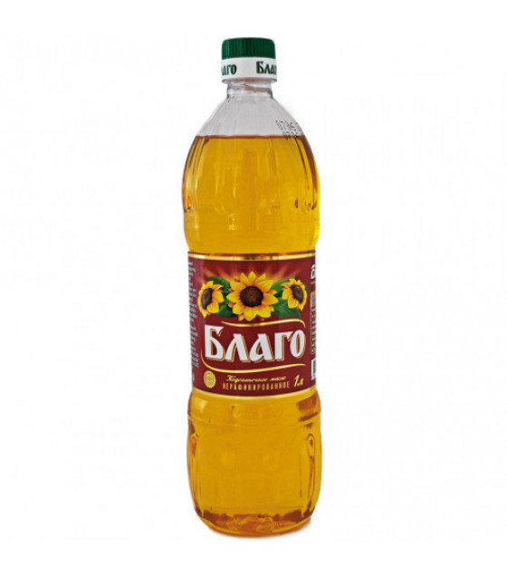 BLAGO Sunflower Oil Not Refined - 1L (best before 20.12.21)